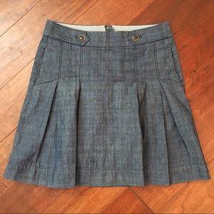 JCrew   Pleated Denim Color Skirt